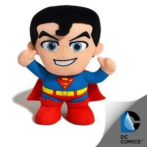DC COMICS BLUE RED SUPERMAN CUTE KIDS FUN SUPERHERO PLUSH TOY 15cm **NEW**