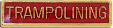 Trampolining Bar Pin Badge in Red Enamel