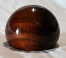 Vintage Handmade Signed Tom Laser Canary Wood Paperweight