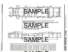 1967 1968 CHEVROLET TRUCKS 1/2 3/4 1 TON FRAME DIMENSIONS CHART DIAGRAM 6166BKM2