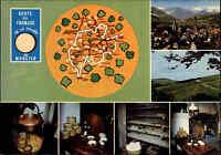 Frankreich France Carte Postale La Route du Fromage, Käse-Route-Strasse color AK
