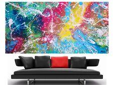 WEISE XXL Acrylbild ART Gemälde Abstrakt Modern 169 x 91 cm Leinwand 75/20 NEU