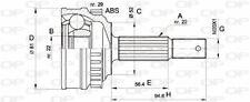 TêTE DE CARDAN POUR OPEL ASTRA F 3/5 PORTES 1.7 D,1.4 SI,1.6 I 16V