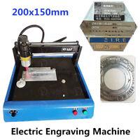 220V Electric Nameplate Marking Machine Metal Dog Tag Lettering Engraver 20x15CM