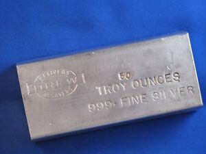 Drew Refiners Assayers .999 Silver 50 Oz Ingot B4401