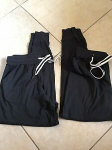 Xhilaration 2 Pair Black Lounge/sleep Pants Size Small Drawstring Pockets NWOT