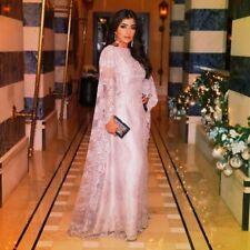 Langarm Abend Party Prom Cocktailkleid Das Abendkleid Spitze Kap Maßgeschneidert