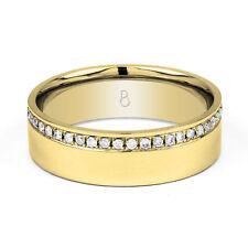 Natural Not Enhanced Diamond Yellow Gold Fine Rings
