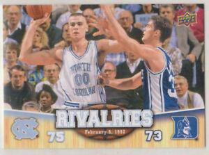 2010-11 Upper Deck University of North Carolina Rivalres UNC/DUKE 1992 #96