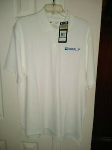 New with tags Mens Large Under Armor shirt golf White