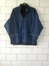 MENS URBAN VINTAGE RETRO NAVY BLUE NIKE TRACK TOP OVERHEAD SIZE UK SMALL
