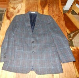 Chester by Chester Barrle inspired by Savile Raw 100%  Wool Blazer/Jacket  40S