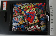 Black Panther Comic Covers Marvel Comics Gift Box Bifold Wallet