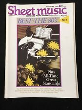 SHEET MUSIC MAGAZINE VOLUME 13-NUMBER 3 MAY/JUNE 1989 BEST OF THE 80'S PART 1