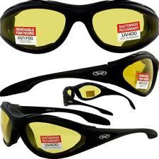 Hero ANTI FOG Padded Motorcycle Sunglasses Yellow-TRANSITION PHOTOCHROMIC LENS
