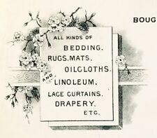 1880's Invoice Artwork~Jos. Fredericks & Co- Carpets, Furniture, Upholstery ~ CA
