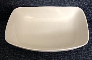 """Ben Seibel Iroquois Inheritance Sheer White 9 1/2"""" Oblong Serving/Vegetable Bowl"""