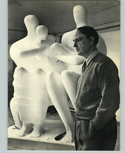 1949 1959 Yousuf Karsh Henry Moore Sculptor ORIGINAL Portrait Art Photo 16X20
