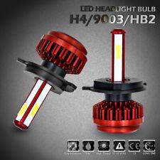 2PCS H4 9003 HB2 LED Headlight High Low Beam 4 Sides High Power Conversion 6000K