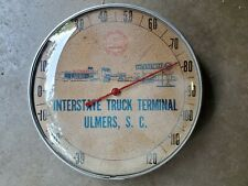 Vintage Pure Oil Gas Station Truck Stop Round Advertising Thermometer Sign soda