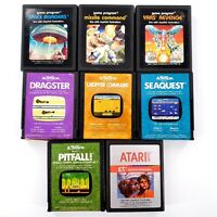 Atari 2600 Lot Of 8 Games ET, Yars, Seaquest, Pitfall, Dragstster Untested