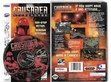 CRUSADER NO REMORSE Sega Saturn disc, case  and manual