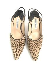 Manolo Blahnik Size 4.5 Leopard Closed Toe Heels