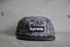 Supreme x Liberty Pinwale Cord Black Floral Box Logo Camp Cap