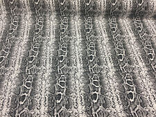 Black White Snake Skin Design Cotton stretch Fabric by the yard