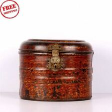 Old Unique Shape Hand Crafted Tin Vintage Tool / Storage Box, Collectible 3016