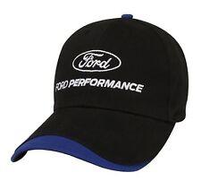 BRAND NEW BLACK & BLUE FORD PERFORMANCE TWILL HAT/CAP! FORD RACING NASCAR NHRA