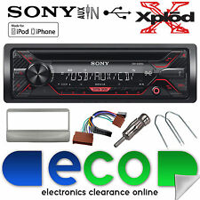 Ford Focus 98-04 Sony CDX-G1200U CD MP3 Usb Aux In Iphone Auto Estéreo Kit De Plata