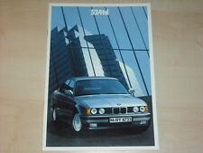 62899) BMW 524td E34 Prospekt 01/1988