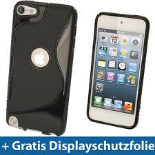 Schwarz S Line Gel Tasche für Apple iPod Touch 6. & 5. Generation 5G 6G Etui TPU