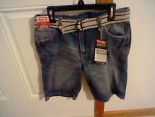 BRAND NEW BOYS SIZE 10 HUSKY WRANGLER STRAIGHT DENIM SHORTS ADJUSTABLE WAISTBAND