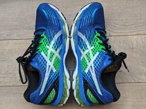 Men's ASICS GEL-Nimbus 17 Royal Blue/Green/White Lightweight Running Shoes US 11