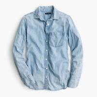 j crew item nwot C9310 denim Always Chambray Shirt indigo 2