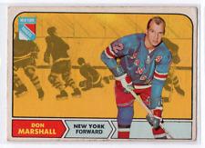 1X DON MARSHALL 1968 69 O Pee Chee #75 VGEX OPC 68 69 NY NEW YORK RANGERS