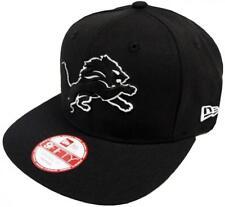New Era NFL Detroit Lions Black White Logo Snapback Cap 9fifty Limited Edition