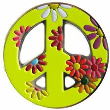 Bright Yellow Peace Sign Golf Ball Marker & Peace, Love, & Golf Hat Clip