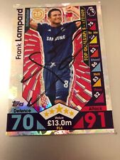 MATCH ATTAX EXTRA 2016/17 FRANK LAMPARD HAND SIGNED PL LEGEND NO PL4 GREAT