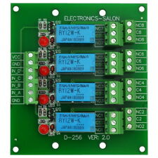4 DPDT Signal Relay Module Board, DC 12V Version, for Arduino Raspberry-Pi PIC.