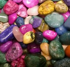 500cts Mixed Dyed Bright Colorful Assorted bulk tumbled Gem stone mix 1/2lb