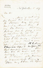 """LETTER SIGNED by ABIEL ABBOT LOW re: naming the """"Franklin Building"""" in BROOKLYN"""
