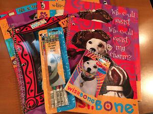 90s PBS Wishbone the Dog School Supplies—Folders Notebooks Pencils ~NOS~