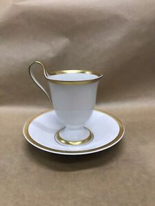 KPM Royal Berlin Van Houten German porcelain coffee cup & saucer Bone China A3