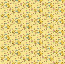 quart jouet COFFRE POUSSINS SUR JAUNE 100% coton tissu patchwork Penny Rose