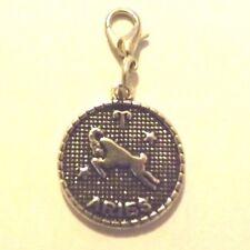 charms argentée médaille argenté zodiaque bélier diamètre 20 mm