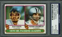 Cowboys Roger Staubach Authentic Signed Card 1980 Topps #331 PSA/DNA Slabbed
