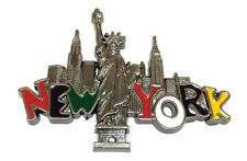New York City Skyway and Statue of Liberty NY Souvenir Gift Fridge Magnets #GRAY
